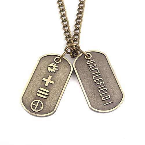 Colgante de perro Battlefield 1 del ejército, cadena con colgante de juego periférico, pequeño regalo souvenirs para los amantes del colgante collar joyas