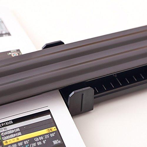 Long Reach Stapler, Desktop Stapler Remover Dual Functions for Office or School, 40 Sheets Stapler, Compact, Low Force, 20 Sheets (14IN, Long Reach Stapler) Photo #2