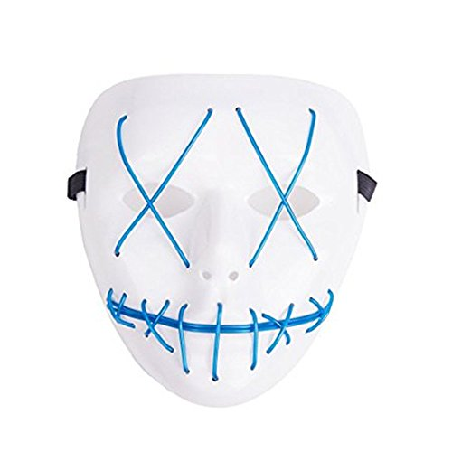 Warm Home Decoration 1 Watt Mascarade/Halloween Ghost Rip Lights Rood masker, Party Accessoires zonder stroom (1 stuks)