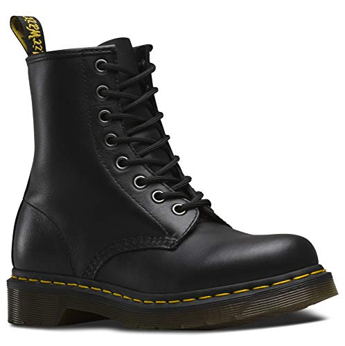 Dr. Martens 1460 Milled Smooth, Scarpe Stringate Basse Brogue Unisex-Adulto, Nero, 38