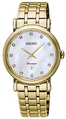 Seiko Premier Reloj para Mujer Analógico de Cuarzo japonés con Brazalete de Acero Inoxidable SXB434P1