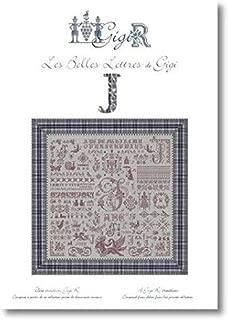 Les Belles Lettres de Gigi Letter J Cross Stitch Chart