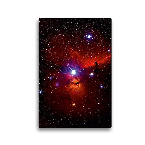 Premium Textil-Leinwand 30 x 45 cm Hoch-Format Stern Alnitak in der Gürtelregion im Sternbild Orion | Wandbild, HD-Bild auf Keilrahmen, Fertigbild auf hochwertigem Vlies, Leinwanddruck von MonarchC