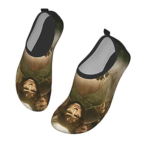 KangZiXunWJH Th_E Lo_Rd O_F Th_E Ri_Ngs - Zapatillas de deporte acuático de secado rápido para yoga para hombres y mujeres, color Negro, talla 39/41 EU