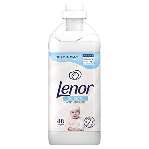 Lenor Weichspüler, Flauschige Wäsche, Sensitiv für sensible Haut und Babyhaut, 48 Waschladungen (1.44 L)
