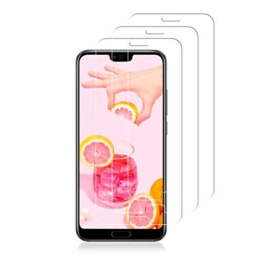 Vetro Temperato per Huawei Honor 10, Pellicola Protettiva per Huawei Honor 10, Copertura Completa Pellicola Vetro, Ultra-Clear Totale Anti-Olio,Senza Bolle Pellicola Vetro