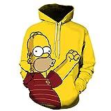 MSWLM 3D Realistisch Druck The Simpsons Unisex Her