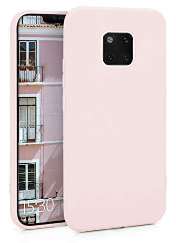 MyGadget Coque Silicone pour Huawei Mate 20 Pro TPU Case - Housse Protection - Bumper Étui Flexible & Léger Anti Choc et Rayures - Rose