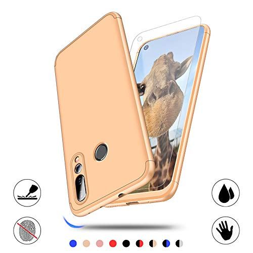 Hülle für Huawei Nova 4, AChris Ultradünne Hülle mit Schutzfolie Leichte Matte Handyhülle für Mate 20 Einfache Stoßfeste Kratzfeste Ganzkörper Hülle
