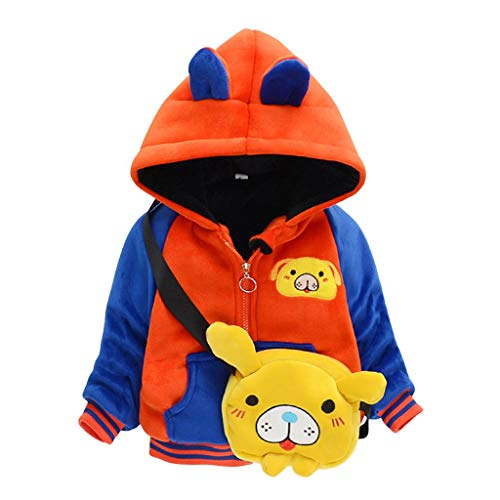 Syliababy Kinder Winterjacke warm Cartoon Tier Reißverschluss Jacke Kapuzenmantel...