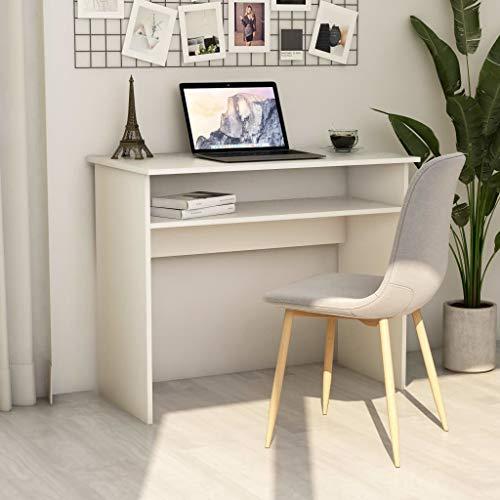vidaXL Biurko pod komputer, biurko dziecięce, młodzieżowe, na komputerze, dla dzieci, biurko, białe, 90 x 50 x 74 cm, płyta wiórowa