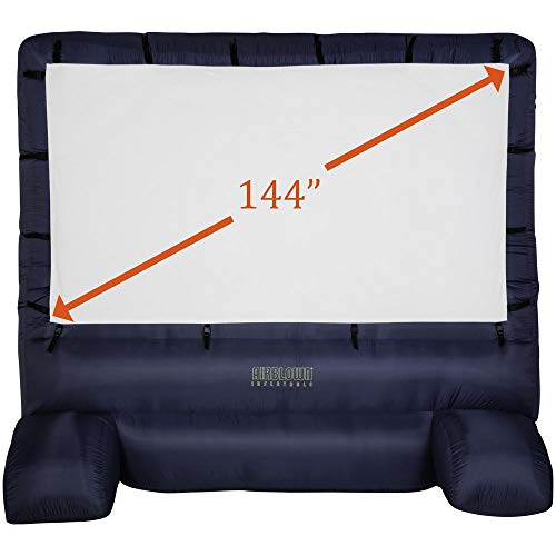 Gemmy Deluxe Airblown Inflatable Movie Screen with Storage Bag – 144 in. Screen