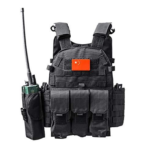 Xinwcang Chaleco Táctico Militar al Aire Libre Juego de Guerra Caza Tank Vest Combate Asalto Placa Camuflaje Vests para Camping Viaje Hiking