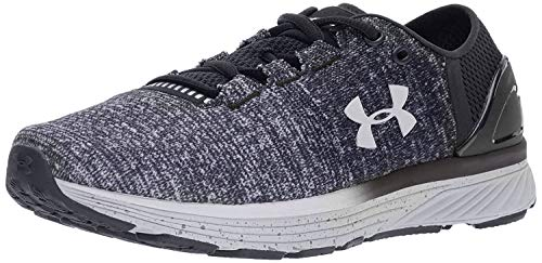 Under Armour Women's Charged Bandit 3 Running Shoe, Black (003)/White, 7.5
