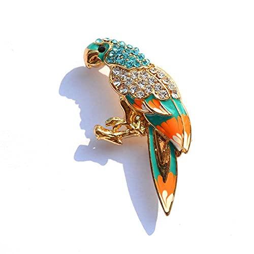 Papagei Broschen für Frauen Vogel-Pin Multi Color Damen Party Geschenke Kleid Zubehör Modeschmuck