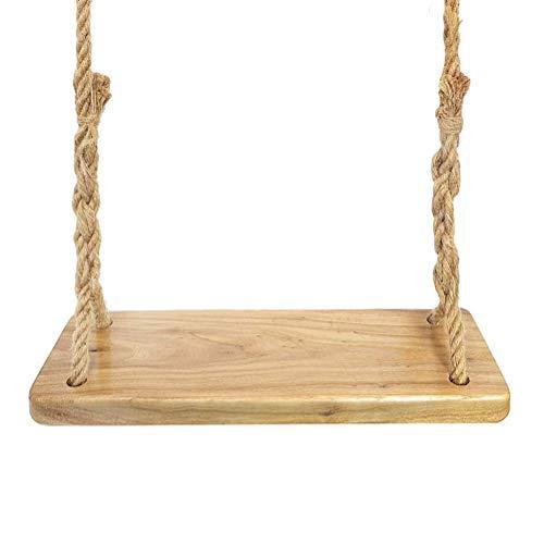 wxqym Asiento de Swing de árbol de jardín  23'x 7' Gran Columpio rústico de Porche de Madera a Prueba de Agua con Cuerda for niños y Adultos (Color : Brown)