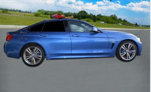 Solarplexius Sonnenschutz Autosonnenschutz Scheibentönung Sonnenschutzfolie für Heckscheibe und 2 kl. Seitenscheiben 4 Grand Coupe F36 Bj. ab 14