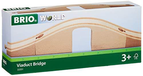 Brio World - 33351 - Pont Viaduc - Accessoire pour circuit de train en bois - Pour agrandir son circuit - Jouet pour garçons et filles à partir de 3 ans