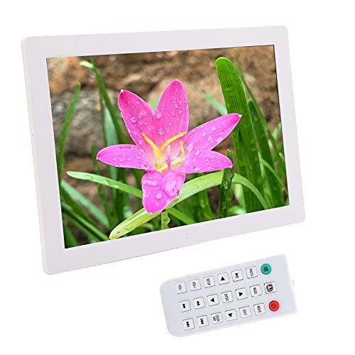 Wakects Marco de vídeo de alta definición, marco de fotos digital muy duradero para miembros de la familia para salón para amigos en casa (blanco)