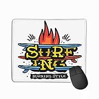 マウスパッドサーフィンサーフィンテーマにしたヴィンテージ伝統的な影響美的印刷メディアサーフィンサーフィン長方形ラバーマウスパッド