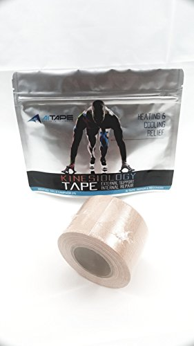 Active Intelligence AI Kinesiology Tape (w/Pain Relief Formula) Repair & Recovery - 2 in x 16 ft - (One Roll) (Blue w/Logo)