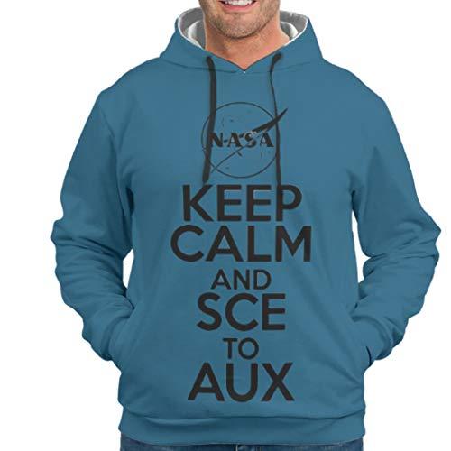 NeiBangM Mens Basic Sweatjacke Pullover Ruhe bewahren und SCE zu AUX Slim Sweatshirt Pullover Rundhals Für Frauen White m