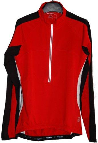 Men's TopCool Reflective Zipper Long Sleeved Spring Fall Winter Biking Cycling Jersey (Red, Medium)