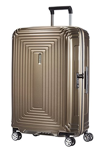 Samsonite Neopulse Spinner M Valigia, 69 cm, 74 L, Marrone (Metallic Sand)