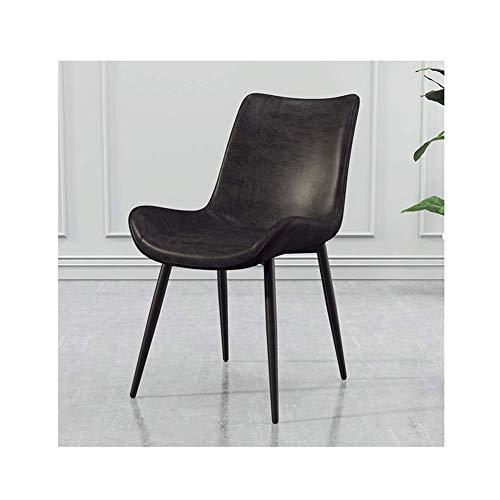 Silla retro de estilo industrial de hierro forjado silla restaurante cafetería salón comedor silla de cuero de la PU StyleName Size 3