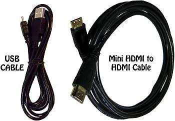 HDMI Cable for Canon EOS SL2 DSLR Camera + USB Cable - High-Speed 4K Mini HDMI to HDMI Cable for Canon EOS SL2 DSLR Camera 6 Feet.