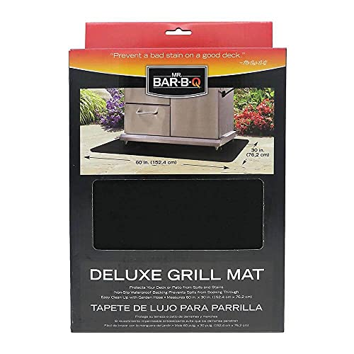 Mr. Bar-B-Q 40124Y Deluxe Grill Mat   Protects Decks & Patios from Spills & Stains   Non-Slip...
