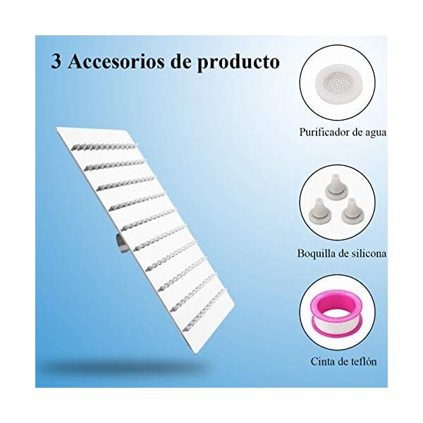 ZCZN Alcachofa de Ducha Redonda,Cabezal de Ducha de Alta Presión de Acero Inoxidable 304,Ultrafino y Ahorro Agua,360…