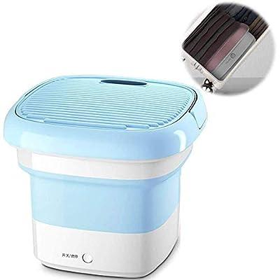 XHCP Portable washing machine Mini Washing Machines, Portable Collapsible Ultrasonic Washing Machine Dormitory For Camping Students Underwear Socks Baby Clothes,Blue-EU