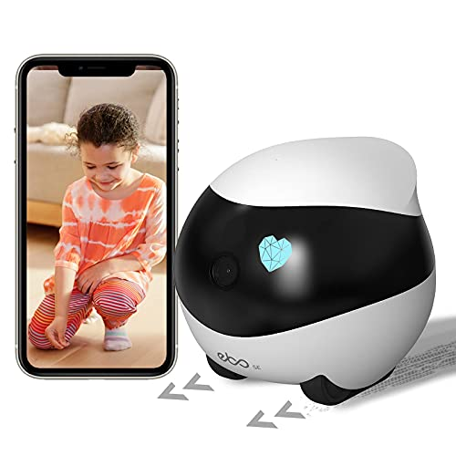 Enabot Ebo SE Wireless Moving Pet Camera, 1080P Security Camera, Smart Pet Monitor, Indoor IP Cam with Remote Control, Night Vision, Auto-Cruise & Self-Charging, Motion Detection, 2 Way Audio