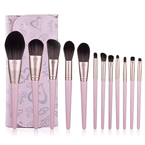 Pinceau De Maquillage Professionnel Set 12 Pièces Avec Sac Brush Photo Studio Beauté Outils Pinceau Fard À Joues Ombre À Paupières Pinceau,2
