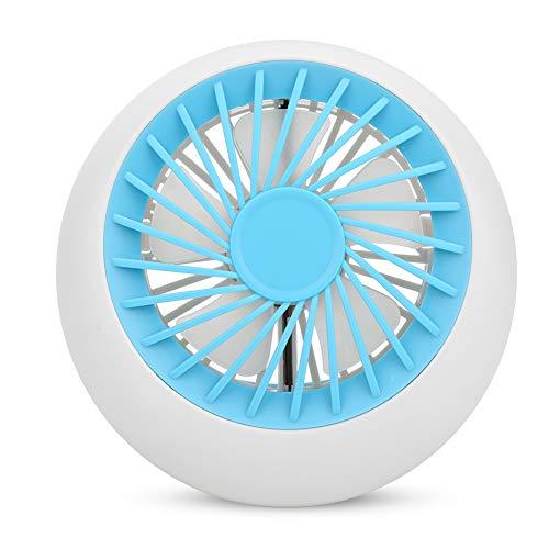 SANON Ventilador de Refrigeración Al Aire Libre Mini 1200 Mah Ventiladores de Escritorio Recargables USB Portátiles para Viajes de Oficina Camping