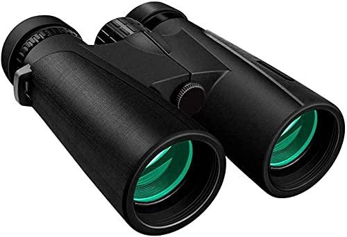 ETRVBSWE Binoculares 12X42 para Adultos Binoculares compactos Impermeables Binoculares de Alta definición para observación de Aves Viajes Conciertos Deportes