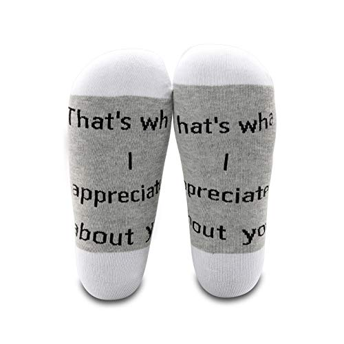 LEVLO Letterkenny Inspired Gift Squirrelly Dan Quote That's What I Appreciates About You Cotton Socks (2 Pairs/Set-Mid Calf-1)