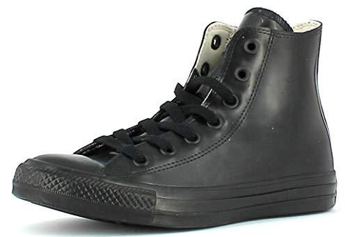 Converse Unisex-Erwachsene Chuck Taylor All Star High Rubber Sneaker top, schwarz, 36.5 EU
