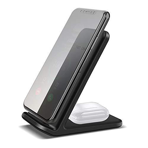 duoying Cargador inalámbrico, soporte de carga rápida adaptador de carga Mimi cargador de auriculares teléfono aleación de aluminio+ABS, para Apple iPhone 8/9/10/11 Series/12/12 Pro