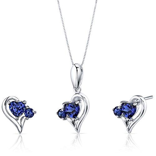 Revoni - Parure composta da collana e orecchini da donna in argento 925/1000, 3,4 g, Argento 925/1000, cod. PER-SS3780