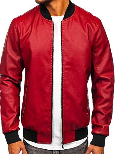 BOLF Hombre Chaqueta De Entretiempo Bomber Diseño Camuflaje Cuello Alto 4D4 Motivo