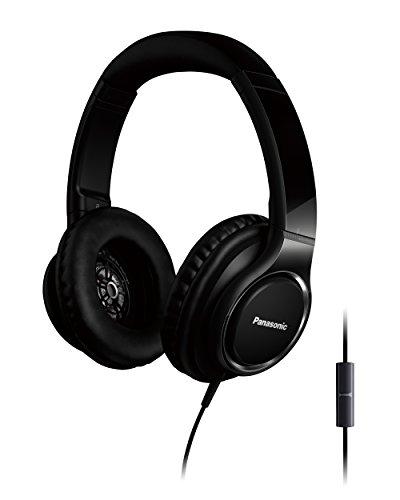 Panasonic RP-HD6ME-K High Resolution Kopfhörer (Over-Ear, Headset, 40mm Wandler, Mikrofon, Sprachsteuerung, schwarz)