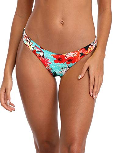 RELLECIGA Women s Blue Floral Cheeky Brazilian Cut Bikini Bottom Size Medium product image