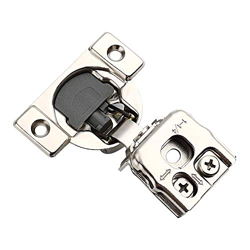 Alzassbg Hardware AL9202D, 1-1/4 Inch Overlay 105 Degree Nickel Plated Soft Closing Cabinet Hinges 10 Pack