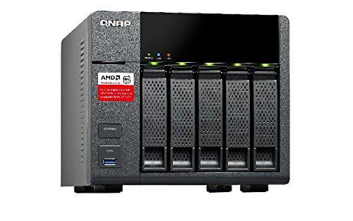 QNAP TS-563-2G/10TB-RED (5X 2TB WD RED) 5 Bay Desktop-NAS (2GB RAM, AMD Quad-Core Prozessor)
