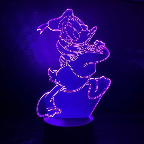 Camera da letto della lampada della decorazione della stanza del sensore di tocco della luce notturna della lampada del regalo di festa di compleanno