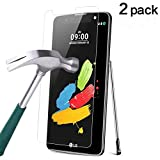 TANTEK [2-Pack] Screen Protector for LG G Stylo 2 Plus/LG G Stylus 2 Plus (5.7 Inch,2016 Edition),Tempered Glass Film,Ultra Clear,Anti Scratch,Bubble Free,Case Friendly
