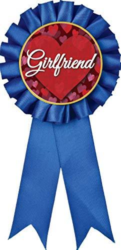 Girlfriend Blue Rosette Ribbon Award, Girlfriend Blue Rosette Trophy Ribbon Prize, 100PK