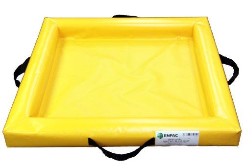 Enpac 5624-YE Duck Pond Mini-Berm Containment, 20 Gallon Spill Capacity, 24' Length x 48' Width x 4' Height, Yellow